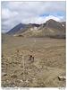 Pohled zpět na Mt Ngauruhoe
