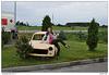 Trabant u litevské benzínky