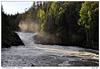 Vodopád Jyrävä na řece Kitkajoki